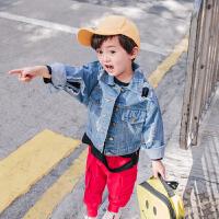 幼童儿童春季男孩幼儿宝宝新款春秋上衣休闲时尚2018男童牛仔外套
