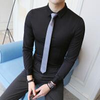 小码男装衬衣纯色正装长袖衬衫绅士S号s码简约小个子休闲寸衫打底