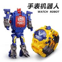 儿童手表变形金刚4玩具5机器人9个性卡通电子表男孩益智3-6周岁7