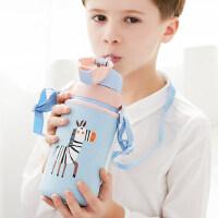 Face儿童带吸管保温杯小学生幼儿园水杯子宝宝两用不锈钢可爱水壶