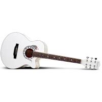 Saysn思雅晨40寸白色民谣吉他木吉它初学新手入门初学者jita乐器蛇套装