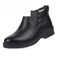 冬季男棉鞋保暖男鞋羊毛棉皮鞋高帮中老年爸爸鞋商务休闲皮鞋