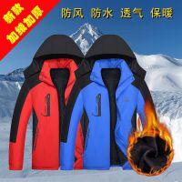 男士冲锋棉服中长款冬季加绒加厚棉袄男外套防寒衣服冬天