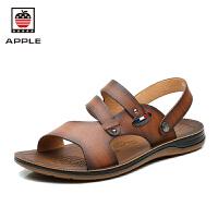 苹果APPLE夏季新款凉鞋软底防滑沙滩鞋凉拖鞋AP-1602
