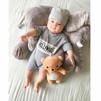 婴儿连体衣服宝宝新生儿季爬服01岁3个月春款短袖休闲睡衣