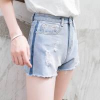 韩版春夏季新款牛仔短裤子女显瘦百搭潮高腰阔腿宽松a字热裤