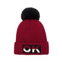 户外运动毛线帽婴儿帽小孩针织毛线帽男女童大毛球保暖毛线帽