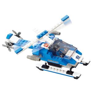 【当当自营】小鲁班城市特警系列儿童益智拼装积木玩具 武装直升机M38-B0185