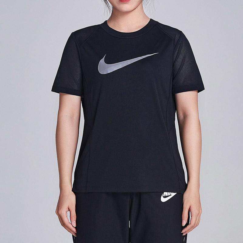 NIKE耐克女装短袖T恤透气圆领针织跑步运动上衣928652 活力出游!满199-10!满300-40!满600-80!