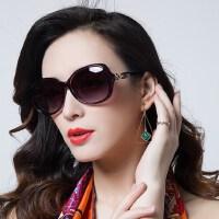 优雅复古眼镜女士墨镜 新款偏光太阳镜圆脸 驾驶潮人近视眼镜 户外遮阳镜