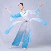 古典舞演出服装女飘逸雪纺水袖民族扇子雨伞舞蹈服秧歌表演服
