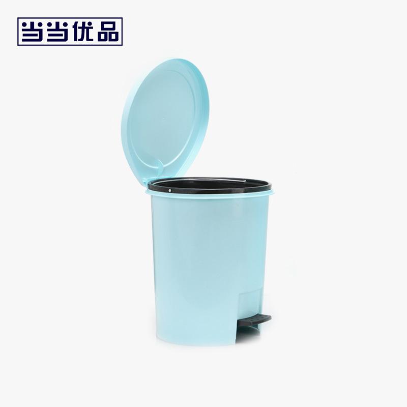 当当优品 小号脚踏式家用垃圾桶 蓝色 8L当当自营 封闭式桶盖设计 防异味扩散 防虫防蝇 杠杆脚踏 使用方便