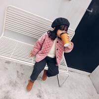 mini旦冬装新款童装女童加厚棉衣保暖洋气外套小童宝宝加绒潮