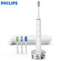 飞利浦(PHILIPS)电动牙刷 钻石亮白智能型 充电式成人声波震动牙刷蓝牙版 HX9984/02 陶瓷白钻