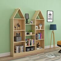 书架置物架实木多层创意小书架简约现代学生简易书柜书架落地