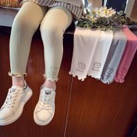 女童打底裤春装洋气儿童弹力修身裤子小女孩九分裤