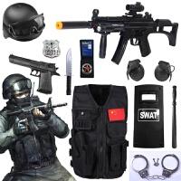 儿童电动玩具枪套装 cos小军人mp5特警军事仿真道具男孩生日礼物