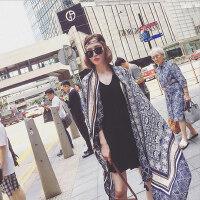 户外波西米亚棉麻围巾女时尚度假防晒披肩丝巾民族风海滩纱巾沙滩巾