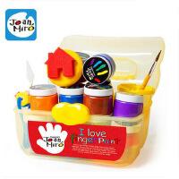 美乐儿童手指画颜料套装安全无毒易水洗涂鸦工具套装儿童节日礼物