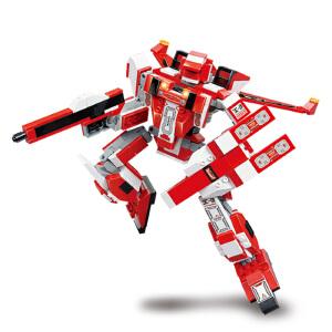 【当当自营】小鲁班星际变形机甲系列儿童益智拼装积木玩具 红蜘蛛M38-B0257