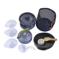 户外野餐烧烤用品炊具锅具便携套装露营装备单人双人户外用品