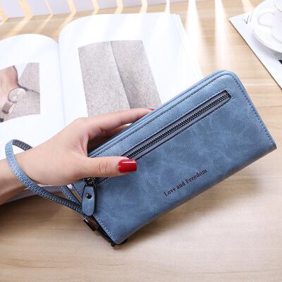 零钱包女士长款2018新款拉链多功能韩版手拿包小清新大容量皮夹