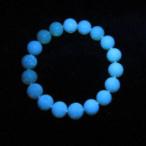 多米尼加天然蓝珀精圆珠手串