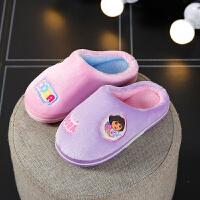 儿童拖鞋女公主冬天保暖可爱小孩室内防滑家居宝宝棉拖鞋