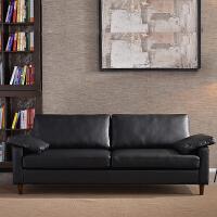 简约现代小沙发双人小户型三人办公真皮沙发组合客沙发皮艺