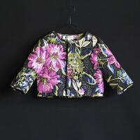 2018女童秋冬新款七分袖短外套宝宝儿童小西装上衣亲子装母女装