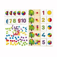 【特惠】Hape数理逻辑丰收的果园4-6岁早教益智游戏儿童玩具木制E6302
