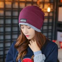 帽子女冬天韩版保暖包头帽女士秋冬季百搭休闲堆堆帽围脖套头帽子