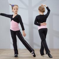 儿童舞蹈服装女童长袖套装幼儿跳舞练功服少儿分体服