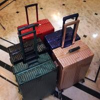 复古行李箱女生小清新韩版大学生铝框拉杆旅行箱皮箱子密码万向轮