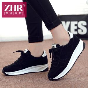 ZHR2018春季新款韩版休闲运动鞋女鞋学生跑步鞋女真皮平底鞋阿甘鞋潮M115