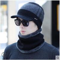 男冬韩版针织帽毛线帽加绒加厚保暖骑车帽男士棉帽子
