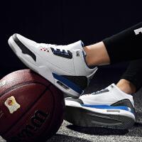 路屋 秋冬男士篮球鞋高帮正品透气减震防滑耐磨运动鞋大码战靴学生男板鞋45码46码47码