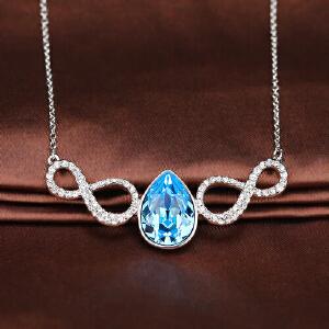 Swarovski/施华洛世奇正品女士 梨形海蓝色水晶8字项链5038191