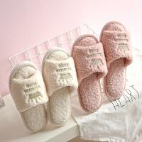 时尚毛毛拖鞋女秋冬季可爱ins韩版室内家居软底防滑棉拖鞋女家用四季