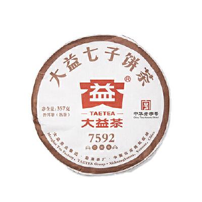 大益茶叶普洱茶2019年7592七子饼熟茶357g 赠茶针 下单7片发一提