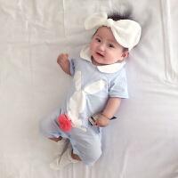 新生婴儿连体衣服宝宝新生儿衣春装满月休闲运动季外出服
