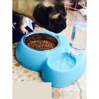狗狗用品狗碗狗盆猫咪用品猫碗狗食盆双碗自动饮水器泰迪宠物用品t2a