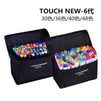 【部分地区包邮】马克笔套装Touch new6代学生手绘彩色绘画油性笔12色30色36色40色