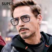 钢铁侠唐尼同款变色眼镜蜘蛛侠伊迪丝近视太阳镜男士偏光驾驶墨镜