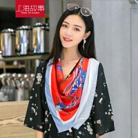 真丝大方巾女士夏季防晒新款2017百搭韩国复古围巾韩版超大领巾
