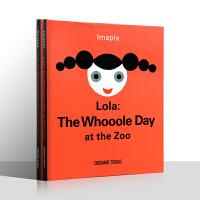 【盖世童书】英文原版绘本 LOLA神奇的一天系列2册 无字书The whooooole day at the zoo/