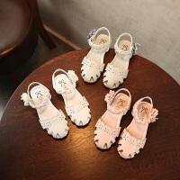 夏季女童凉鞋花朵公主鞋包头儿童沙滩鞋宝宝鞋女童鞋