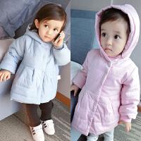 冬季连帽外套婴儿卫衣服秋装外套装0岁3宝宝加厚保暖秋冬装