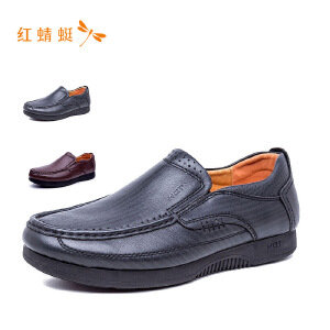 红蜻蜓男鞋2018秋季新品皮鞋男士正装商务休闲鞋