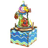 robotime若态 AM406 八音盒.3D木质DIY拼装模型.海底万花筒当当自营